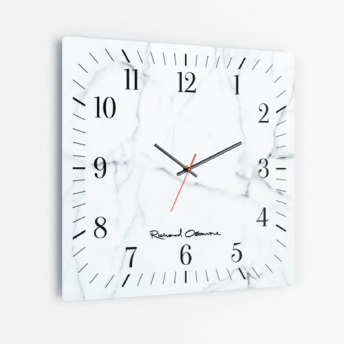 Statuary Marble - Square Glass Clock